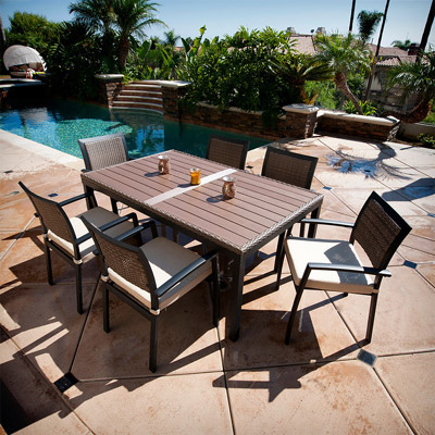 Zen 7 pc Dining Table and Chairs Set
