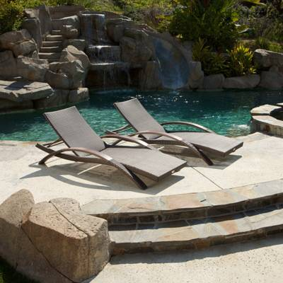 Arc Lounger Set (2pk) - Espresso Rattan