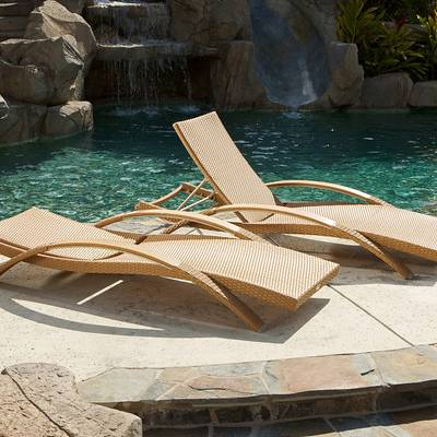 Arc Lounger Set (2pk) - Camel Rattan
