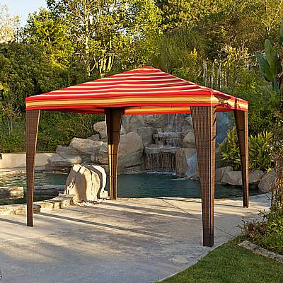 Woven Outdoor Gazebo Structure