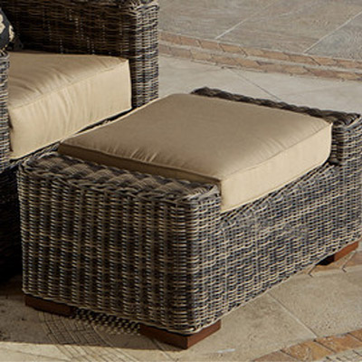 Weathered Grey Resort Club Ottoman