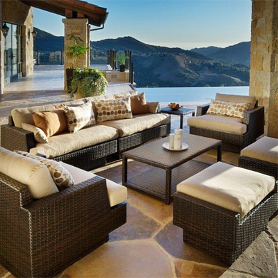 New Portofino Sofa & Chairs Deep seating 8 pc set