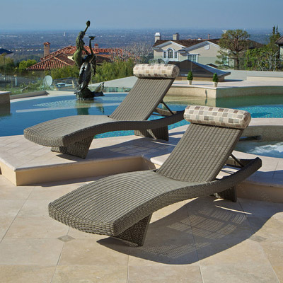 New Portofino Grey Lounger Set (2pk)