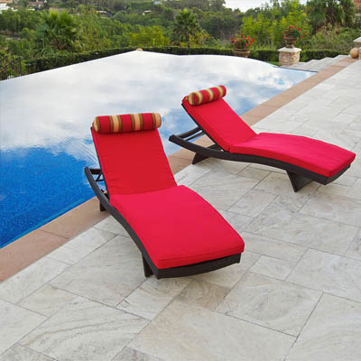 Cantina Wave Lounger with Mattress  Set (2 pack)