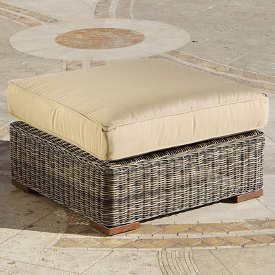 Weathered Grey Resort Ottoman