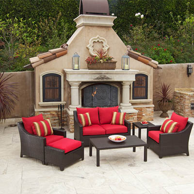 Cantina 6 pc Love Seat Deep Seating Set