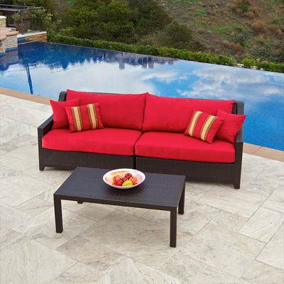 Cantina Outdoor Sofa with Coffee Table Set