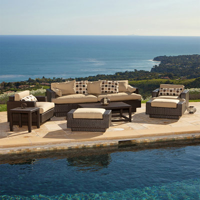 Portofino Sofa and Club Chair 8 pc Set