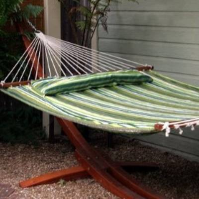 Poly Stipred Hammock Bed Set - Green Stripe