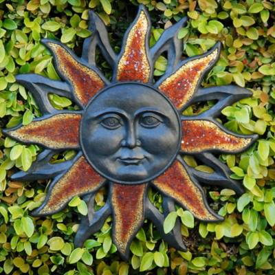 Cast Reisen Bronze / Glass Decorative Sun