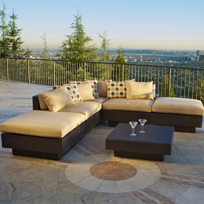 Portofino Outdoor 6 pc Sectional - 108